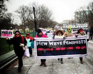 New Wave Feminists at March for LIfe